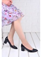 Ayakland Ayakland 1990-2023 Kırık Rugan 5 Cm Topuk Bayan Ayakkabı Siyah
